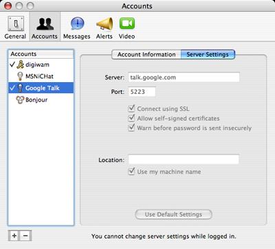 Conectate a Google Talk con iChat o cualquier otro cliente Jabber 5