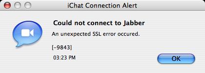 Problemas con Google Talk y iChat, no se puede conectar por el momento 2