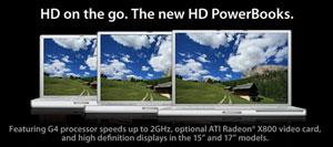 Apple deja ver accidentalmente las nuevas PowerBooks HD en su sitio web 2