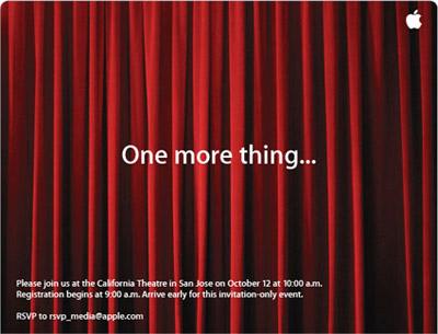 Apple planea un evento especial para el 12 de Octubre 2
