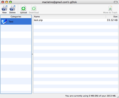 Utiliza tu cuenta de gMail como disco duro en tu computadora y Mac OS X 13