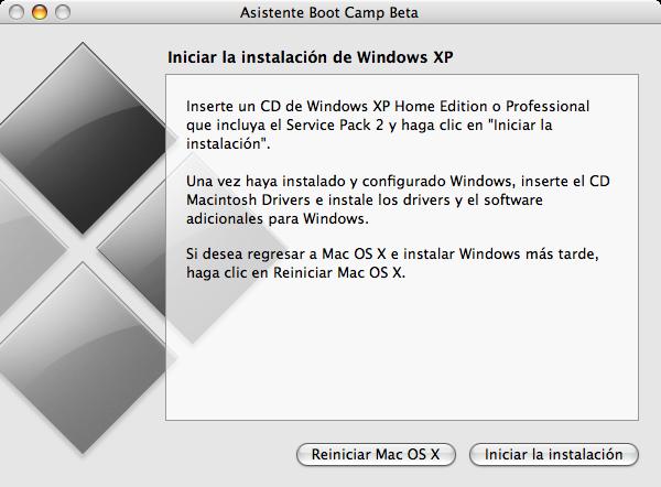 Como instalar Windows XP en las Mac con procesador Intel siguiendo algunos pasos 21