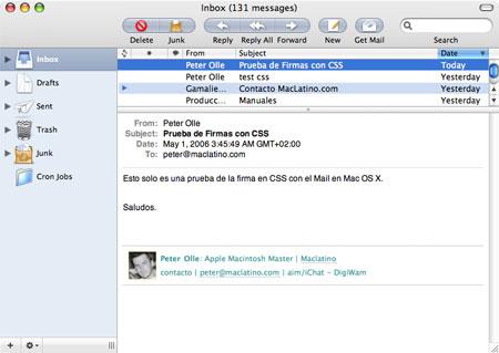 Firma CSS en mail