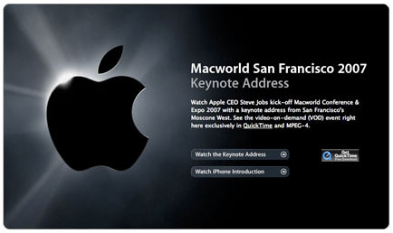Descarga el video de la Macworld 2007 gratis desde iTunes 1