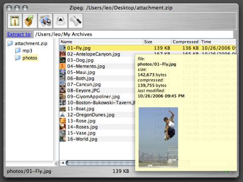 Como ver el contenido de archivos comprimidos .zip y otros sin descomprimirlos en Mac OS X 1