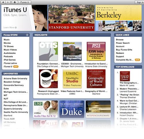 iTunes U en la iTunes Store, descarga contenido gratis desde iTunes 2