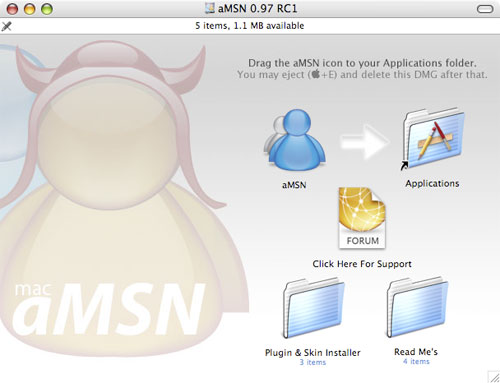 MSN Messenger 4.01 y RDC 1.03 3