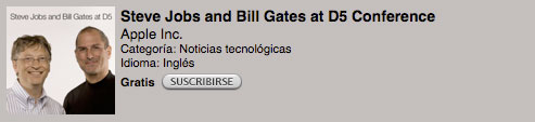Ya puedes descargar en audio o video la entrevista de Steve Jobs y Bill Gates 1