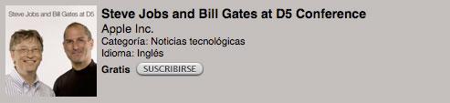 Ya puedes descargar en audio o video la entrevista de Steve Jobs y Bill Gates 6