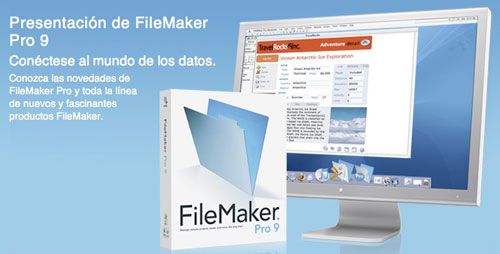 Disponible el nuevo FileMaker Pro 9 para Mac OS X y para Windows 1