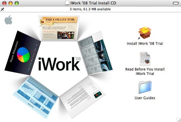 Imágenes de la instalación paso a paso de iWork '08 con Keynote, Numbers y Pages 3