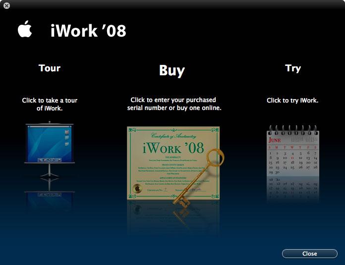 Imágenes de la instalación paso a paso de iWork '08 con Keynote, Numbers y Pages 17