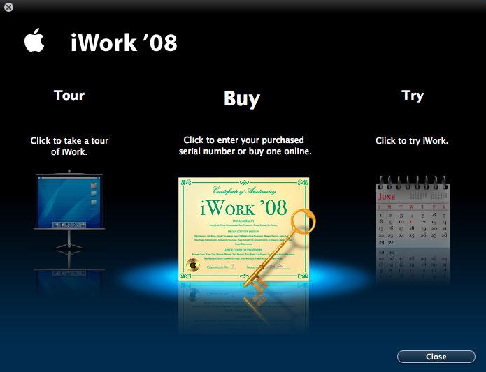Imágenes de la instalación paso a paso de iWork '08 con Keynote, Numbers y Pages 18