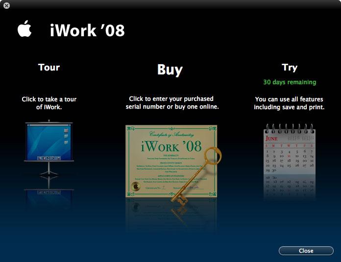Imágenes de la instalación paso a paso de iWork '08 con Keynote, Numbers y Pages 33