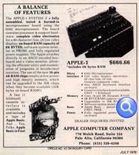 El comienzo de todo, Apple I y su publicidad impresa en 1976 1
