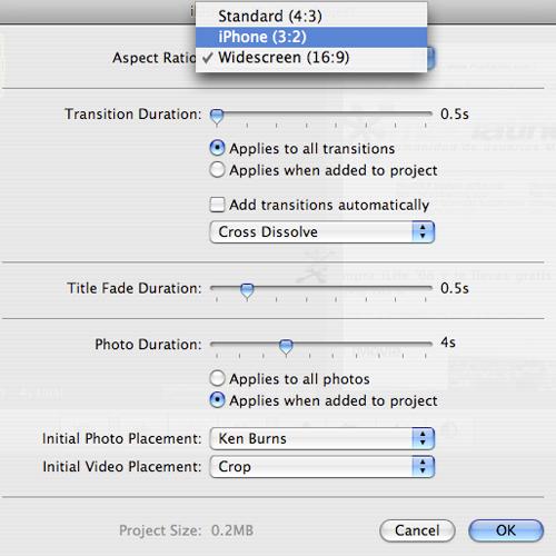 iMovie '08 comparte, exporta y sube tus videos directamente a Youtube 5