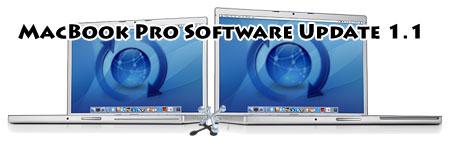Actualización para MacBooks Pro con el MacBook Pro Software Update 1.1 1