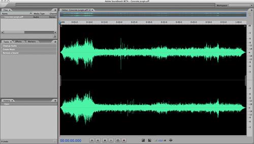 Sound Edit 16 para Mac OS X es el Adobe Soundbooth Beta 2