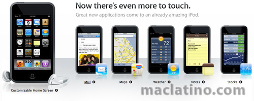 Mail, Google Maps, Stocks, Weather y Notes para los iPods touch 1