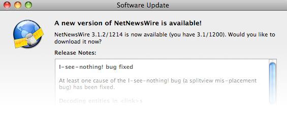 Lector de feeds RSS NetNewsWire 3.1.6 disponible 5