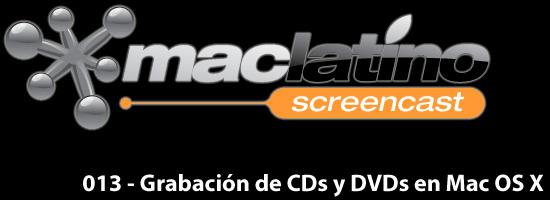 013 - Grabación de CDs y DVDs con archivos, música y fotos en Mac OS X 1