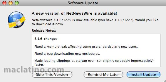 Lector de feeds RSS NetNewsWire 3.1.6 disponible 1