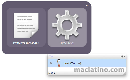 Quicksilver Twitter plugin para publicar en Twitter desde Quicksilver 1