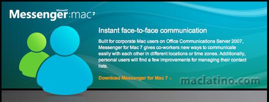 MSN Messenger 5.0 para Mac en el 2005 2