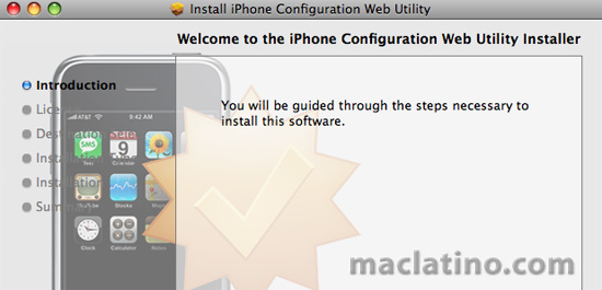 iPhone Configuration Web Utility 1.0 para Mac y para Windows 5