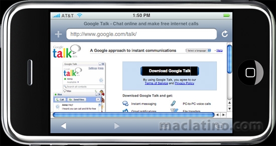 Google Talk para iPhone y iPod Touch 1
