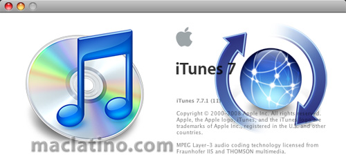 Descarga iTunes 7.7.1 para Mac OS X y para Windows 1