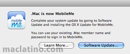 Mac OS X Update para MobileMe disponible 1