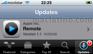 Descarga de Remote 1.1 de Apple para iPhone y iPod touch disponible 2