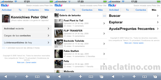Flickr 1.1 para iPhone y iPod touch 6