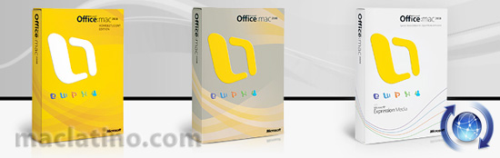Descargas de Microsoft Office 2008 12.1.1 y Office 2004 11.5.0 disponibles 3