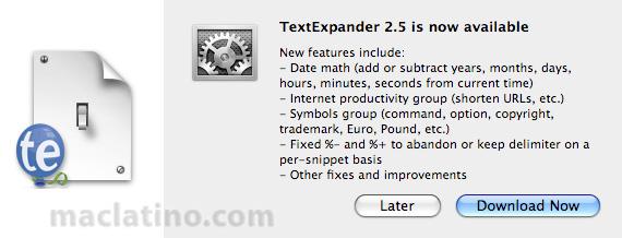 Textexpander 2.5 1