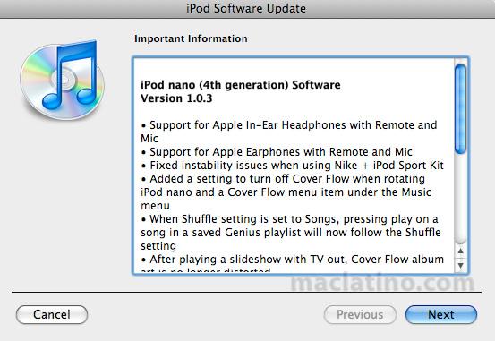 Nada libremente con tu iPod Nano 5