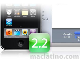 Actualización de Software iPhone 2.2 para iPod touch 1