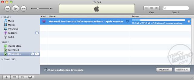 Descarga el video de la Macworld 2009 Keynote 1