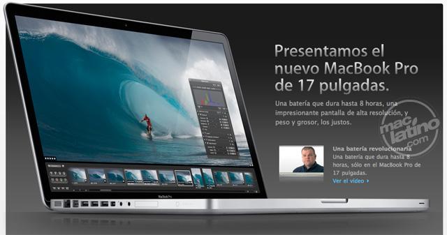 Apple presenta la MacBook Pro de 17 pulgadas con carcasa unibody 1