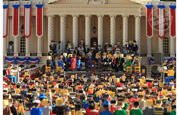 Toma de protesta Obama en Lego 1