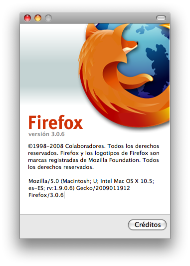 FireFox se actualiza, version 3.0.6