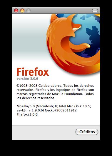 FireFox se actualiza, version 3.0.6