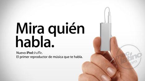 Publicidad ingeniosa del iPod Shuffle alrededor del sitio de Apple 7