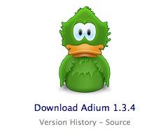 Adium versión 1.3.4 y una beta 1.4b1 con soporte para Twitter e IRC 1
