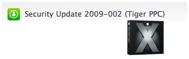 Security Update 2009-002 para Mac OS X Tiger en procesadores PPC 1