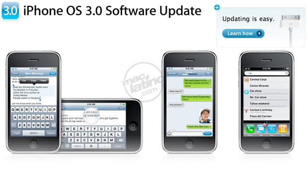 Proceso de instalación del software 3.0 para el iPhone 2