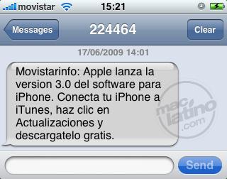 Proceso de instalación del software 3.0 para el iPhone 3