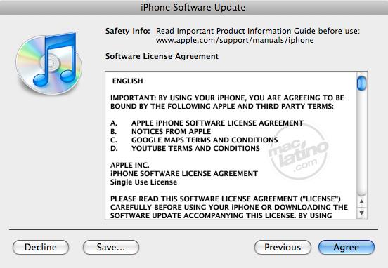 Proceso de instalación del software 3.0 para el iPhone 6