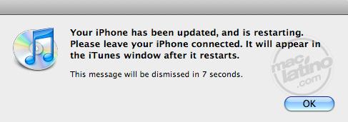 Proceso de instalación del software 3.0 para el iPhone 21